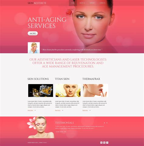 cosmetology portfolio template salon responsive website template 44005