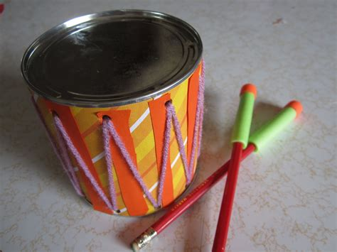How To Make A Paper Drum Set - crafty how to make a drum musical instrument set