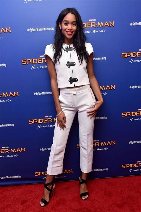 laura harrier hawtcelebs laura harrier at spiderman homecoming premiere in new