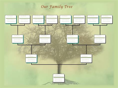 family tree chart template exle youtube