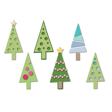 sizzix christmas trees triplits die
