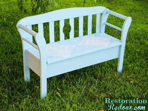 bench sure blue blue little love bird bench restoration redoux