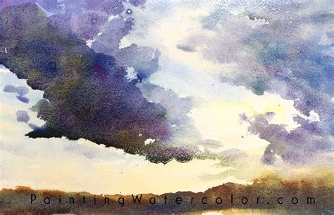tutorial watercolor sunset sunset clouds watercolor painting tutorial