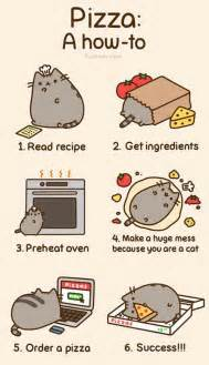 Pusheen Cat Meme - pizza a how to for cats