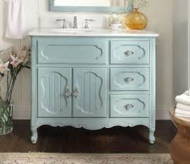 42 inch bathroom vanity cottage beadboard style light blue