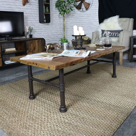 Rustic Chic Coffee Table Rustic Industrial Style Coffee Table Melody Maison 174