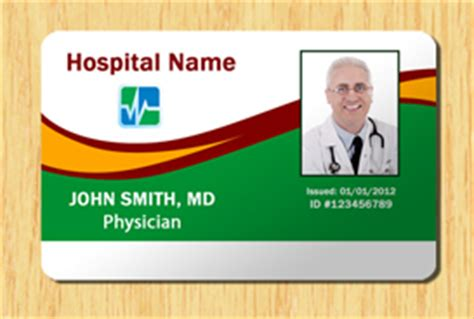 Hospital Id Template 2 Other Files Patterns And Templates Hospital Id Badge Template