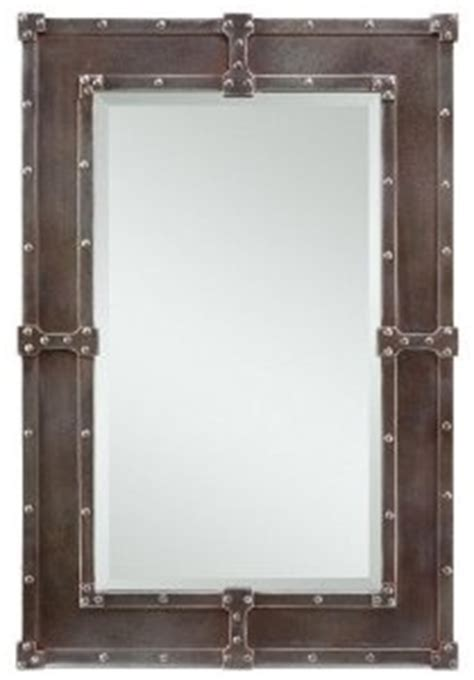 hanging bathroom mirrors with frame rivet mirror for the home pinterest lofts