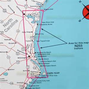 top spot map n255 cape fear to jacksonville carolina