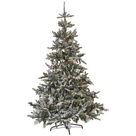 7 fr martha stewart slim christmas tree martha stewart living 7 5 ft indoor pre lit snowy spruce artificial tree