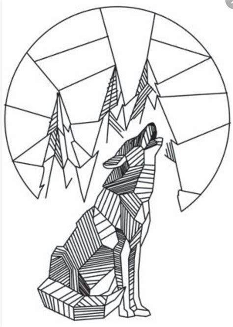 geometric wolf coloring pages 11 best tatoo ideas images on pinterest geometric