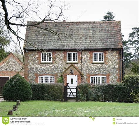 Stone Cottage House Plans brick and flint house royalty free stock photography