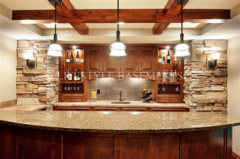 basement bar traditional kitchen minneapolis by wet bar