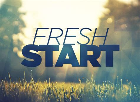how to start fresh in fresh start open resources