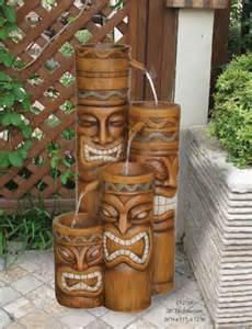Island 4 Tiki Indoor Outdoor Water Fountain Ebay | island 4 tiki indoor outdoor water fountain