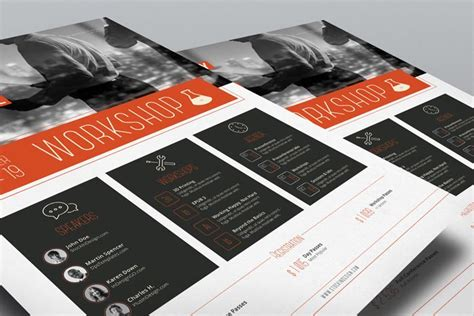 workshop brochure template corporate flyer template workshop stockindesign
