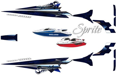 sea doo boat graphics wrap custom speedster 200 boat graphics by world class wraps