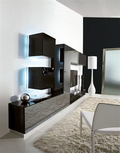 decorative wall units modern style italian wall systems contemporary living room