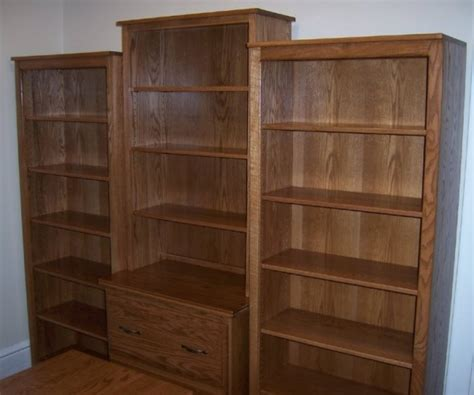 Wall File Cabinet by Custom Oak File Cabinet With Bookcase Wall Unit Country