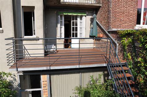 terrasse ossature métallique terrasse metallique b 194 timent cerh metallerie pour l