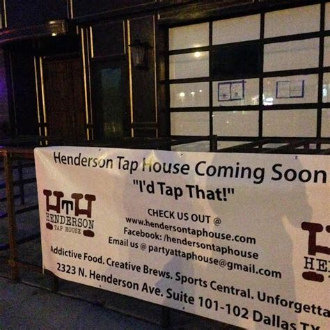 henderson tap house henderson tap house to open in january with a lengthy dress code d magazine