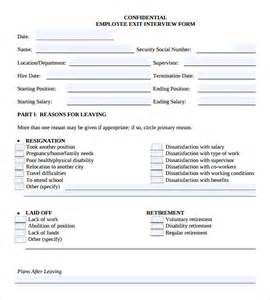 free employee exit template sle employee form 9 documents in pdf
