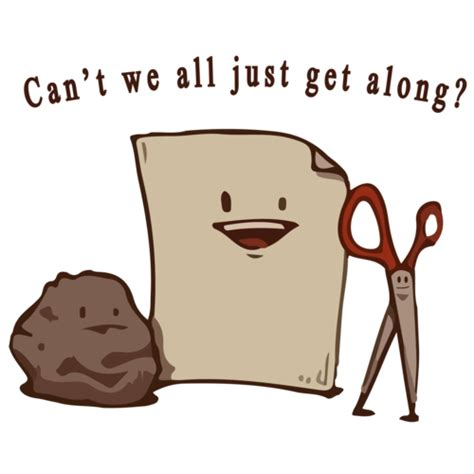 Can T We All Just Get Along Meme - can t we all just get along rock paper scissors funny t