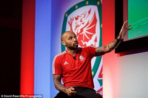 thierry henry speaks at welsh fa coaching conference