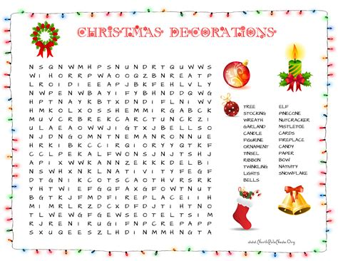 more printable christmas word searches north pole news