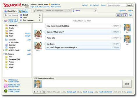 Yahoo Email Search Tips Sms In Gmail Chat