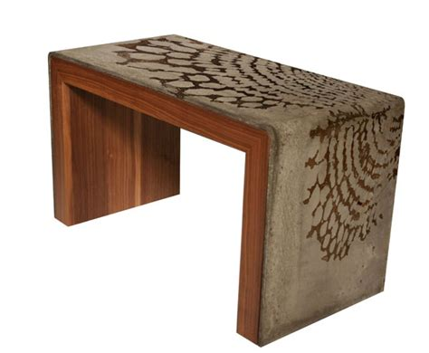 Concrete And Wood Coffee Table Concrete And Wood Coffee Table Model Apartment