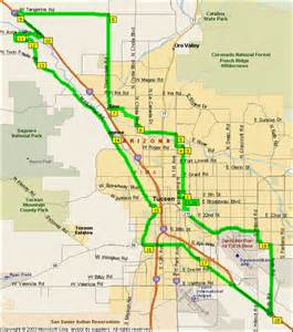 map of benson arizona silverbell and benson hwy