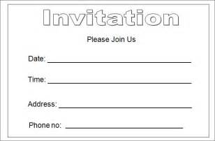 Template For Invitation by 10 Best Blank Invitation Templates Free Premium Templates