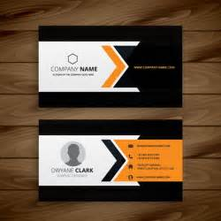 dark corporate business card vector free download