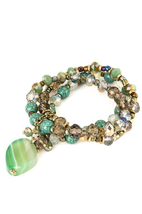 stretch beaded bracelets semi precious beaded stretch bracelet