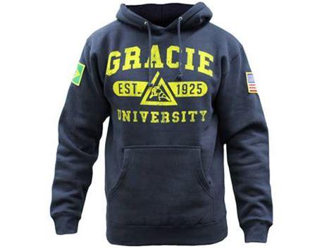 Jaket Hoodie Sweater Gracie Jiu Jitsu Academy gracie academy jiu jitsu hoodie navy blue mma bjj grappling