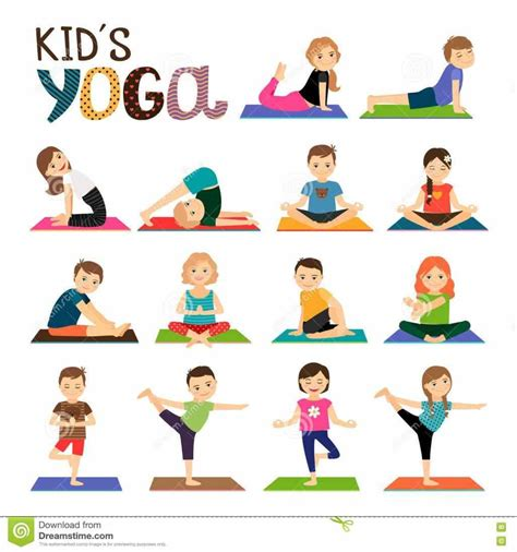 childrens yoga poses printable kids poses beginners with a free printable shape sorting