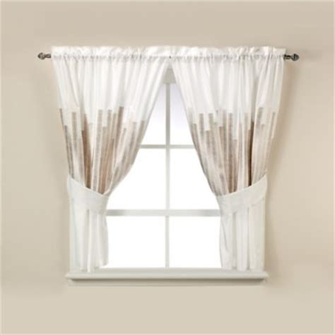 bathroom tier curtains kenneth cole reaction home frost window curtain tier pair
