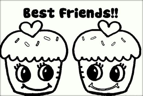 best friend coloring pages color zini