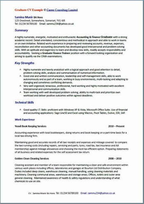 exle of a well written cv cv writing exles all cv writing
