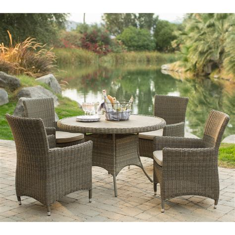 all weather wicker patio dining sets belham living all weather wicker patio dining