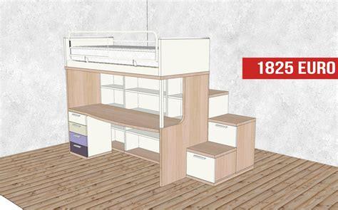 letto con scrivania sotto letto a con scrivania da outlet