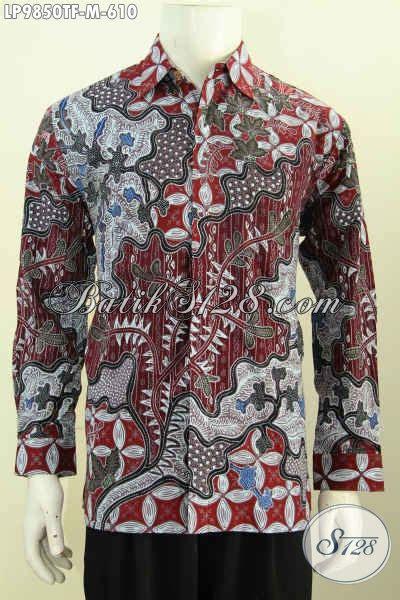 Kemeja Batik Premium Lengan Panjang baju batik atasan pria kemeja lengan panjang premium mewah halus bahan adem furing motif