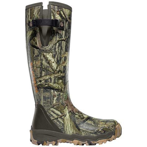 lacrosse boots alphaburly pro 18 quot lacrosse 174 alphaburly pro side zip mossy oak 174 up