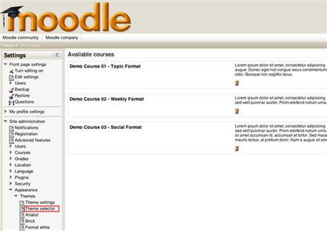 Moodle Themes How To Install   how to install a new moodle theme elearning themes