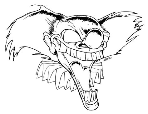 Scary Clown Coloring Pages Coloring Home Scary Coloring Pages