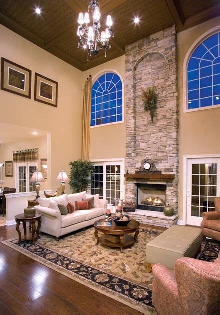 2 story living room two story family room there s no place like home pinterest