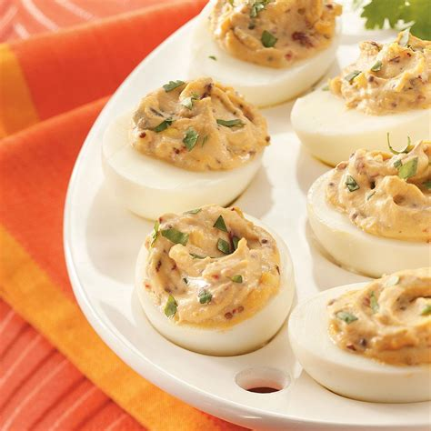 taste of home christmas deviled eggs smokin deviled eggs recipe taste of home