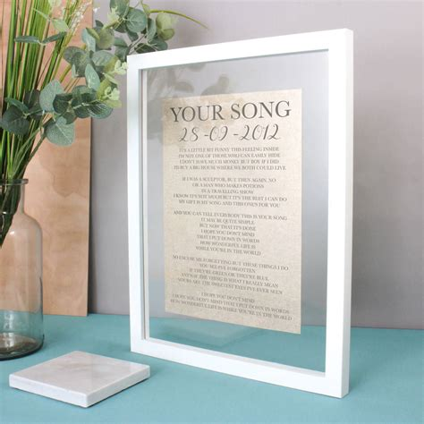 1st Wedding Anniversary Song Lyrics by Linen Anniversary Lyrics Vows Print By No Ordinary Gift