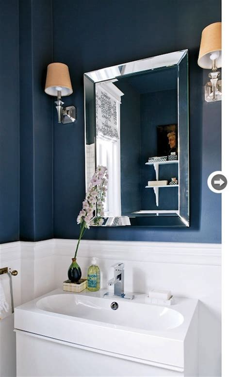 navy and white bathroom navy blue walls design ideas